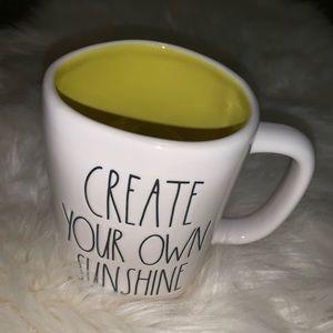 Rae Dunn Create Your Own Sunshine Mug Yellow